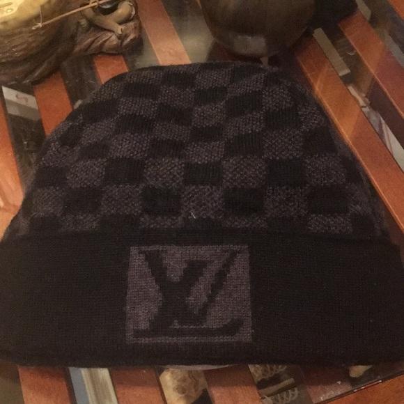 Louis Vuitton Other - Louis Vuitton Petit Damier 100% Wool Beenie Hat